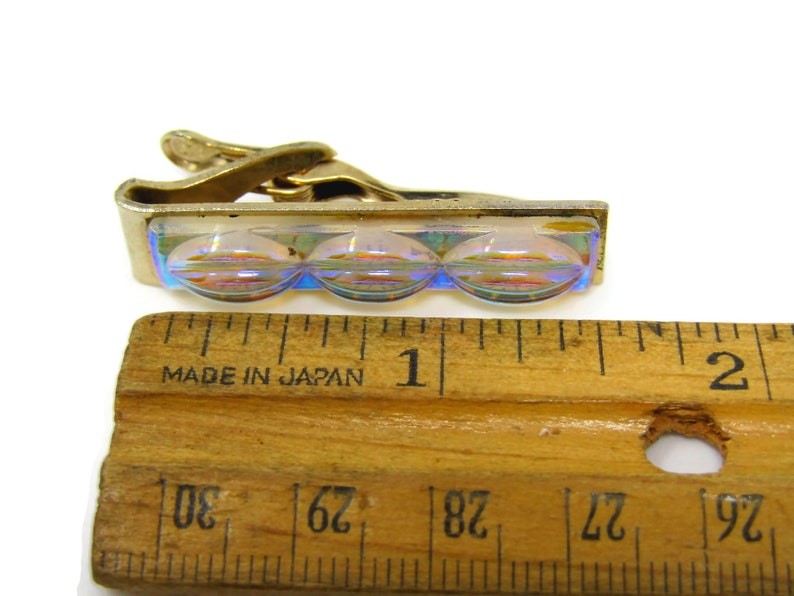 Vintage Tie Bar Clip for Men Colorful Glass Design Great Design