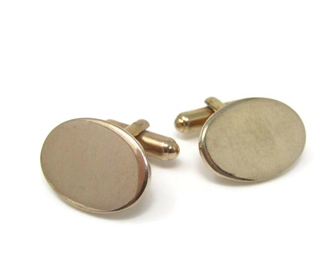 Oval Smooth Cufflinks for Men's Vintage Men's Jewelry Nice Design