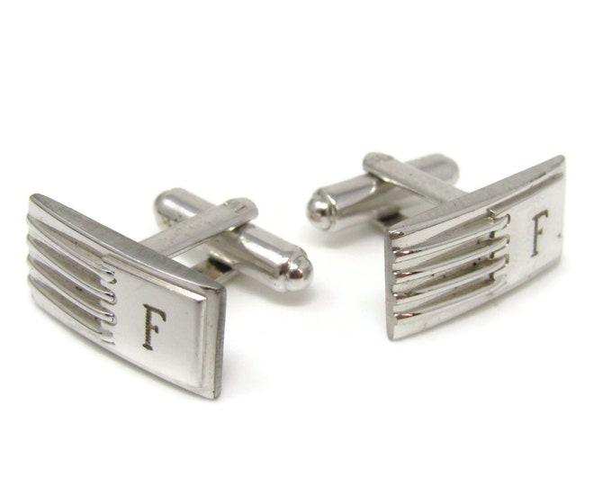 Letter F Art Deco Cufflinks for Men's Vintage Men's Jewelry Nice Design