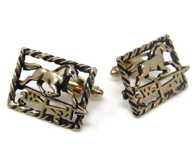 Horse Weathervane Gorgeous Cufflinks for Men's Vintage Men's Jewelry Nice Design
