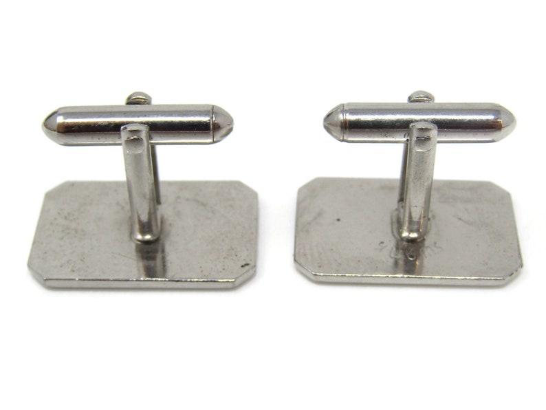 Beveled Edges Rectangle Cufflinks for Men/'s Vintage Men/'s Jewelry Nice Design