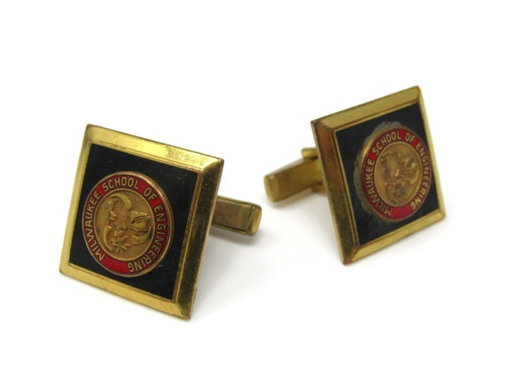 Vintage Gold Tone Mother of Pearl Art Segments Men/'s Cufflinks Stand Out from the Crowd with Class