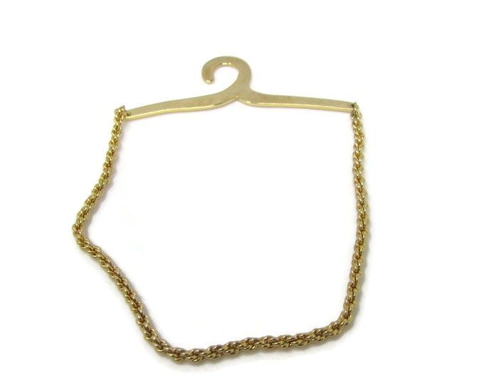 Button Hook Chain Gold Tone Vintage Men's Jewelry