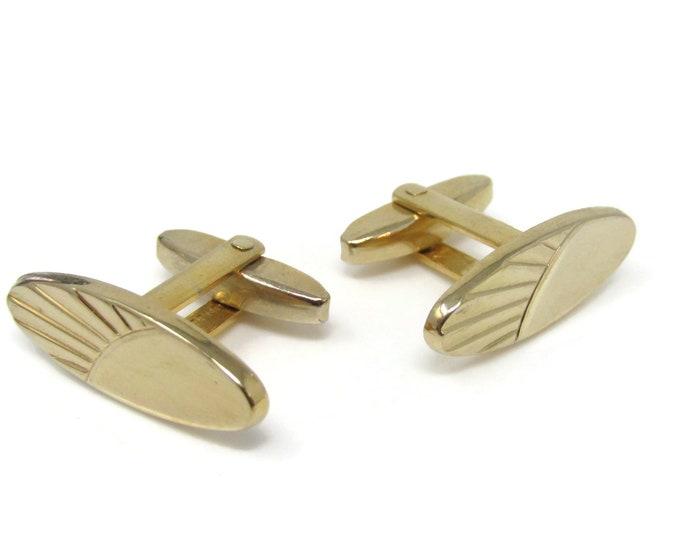 Oval Modernist Cufflinks for Men's Vintage Men's Jewelry Nice Design