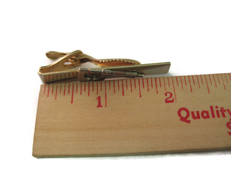 Vintage Men's Tie Bar Clip Jewelry: Micrometer Measuring
