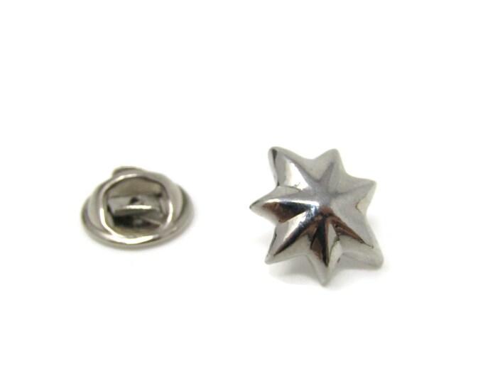 Star Design Tie Tack Pin Vintage Men's Jewelry Nice Design