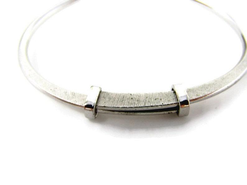 Silver Tone Loop Tie Clip Vintage Tie Bar Nice Design