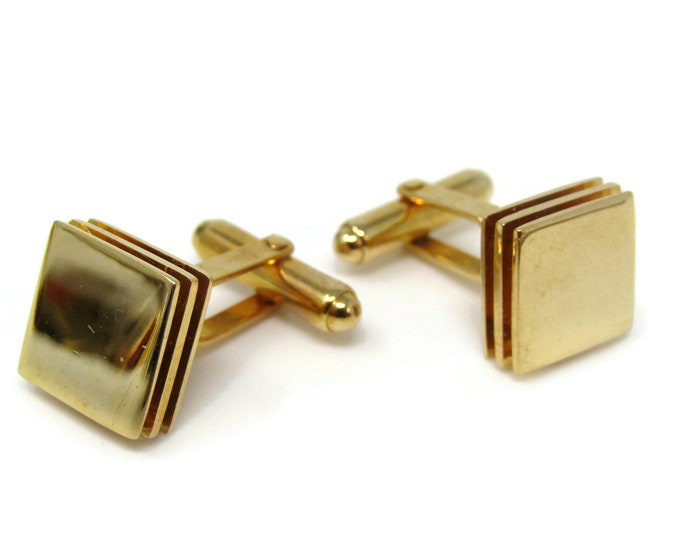 Stacked Squares by Christian Dior Cufflinks for Men's Vintage Men's Jewelry Nice Design