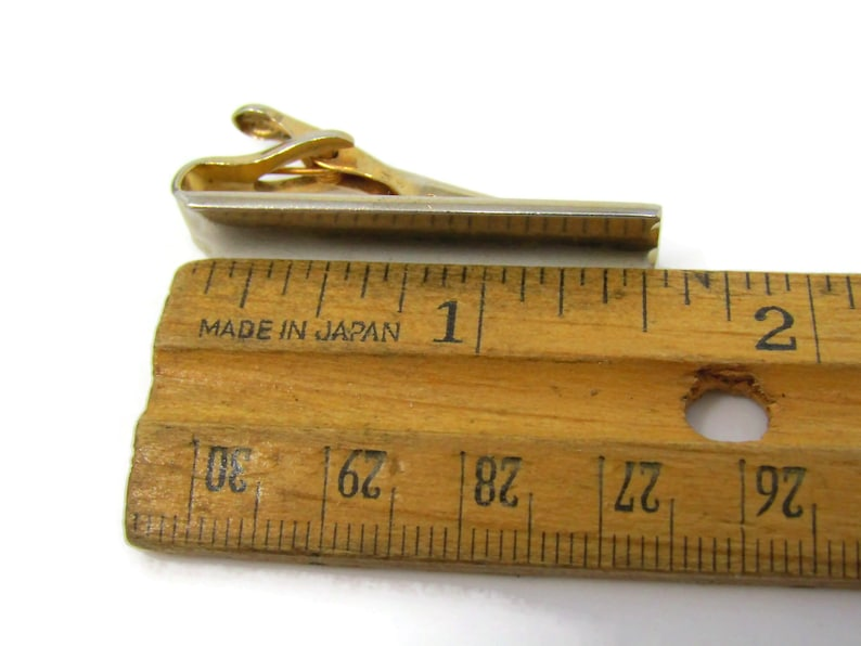 Cool Tie Clip Vintage Tie Bar Classic Gold Tone Gift for Dad Son Husband Boyfriend
