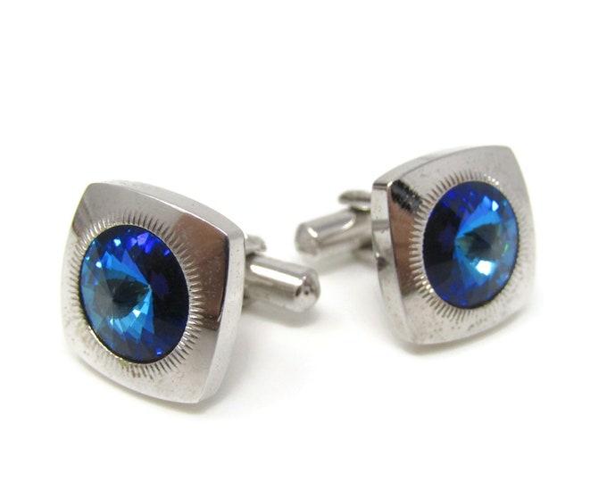 Blue Jewel Stunning Cufflinks for Men's Vintage Men's Jewelry Nice Design