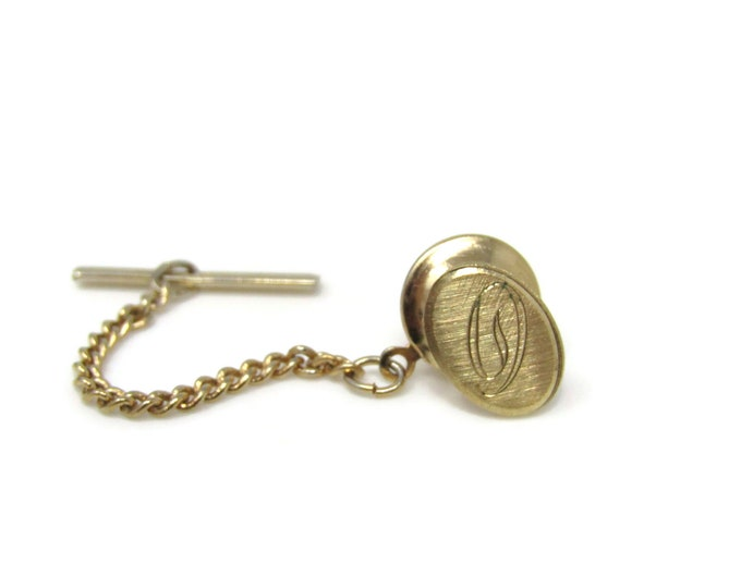 Letter D Initial Tie Tack Pin Vintage Men's Jewelry Nice Design