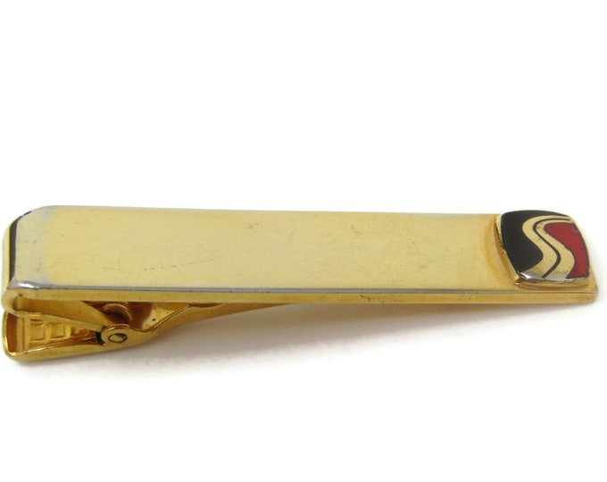 Road Logo Tie Bar Clip Gold Tone Stand Out w/ Style Fit In with Class