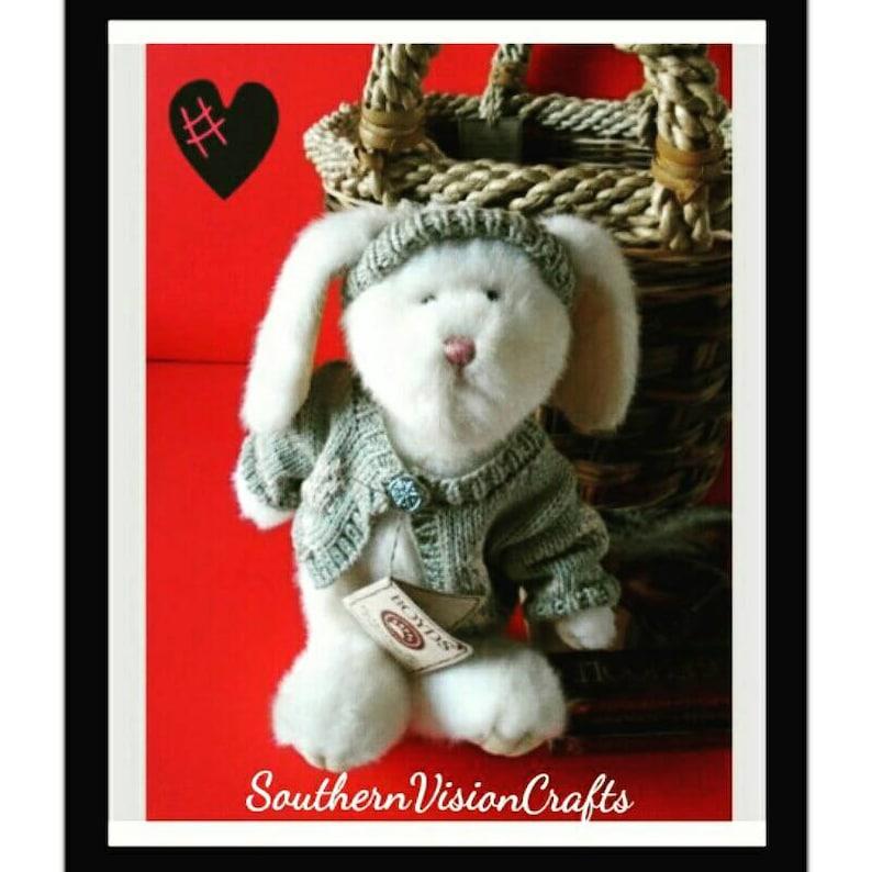 Boyds Bear Stuffed Animal Plush Toy Carly Crystalfrost Bunny Rabbit Children Baby Nursery Easter Bunny Spring Summer Hat Doll Vintage Toys