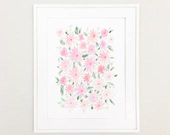"SALE: Watercolor Floral 11""x14"" Print by Louise Dean"