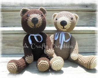 Crochet Teddy Bear, Brown Teddy Bear, Teddy Bear, Crochet Bear, Amigurumi Bear, Stuffed Teddy Bear, Brown Bear, Bear