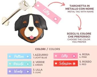 Memorial keychain personalized Pitbull keyring Dobermann keychain, poodle fake leather dog personalized gift puppy custom name dog mum
