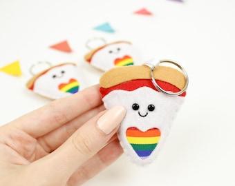 Lgbt gift, Gay pride bisexual keychain, rainbow keyring, lesbian gift, pride flag LGBTQ queer equality transgender love is love LGBTQ