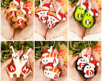 Food ornament sushi, avocado funny ornament personalized gay pride, Anniversary, new home gift, llama christma, Pizza Lovers gingerbread