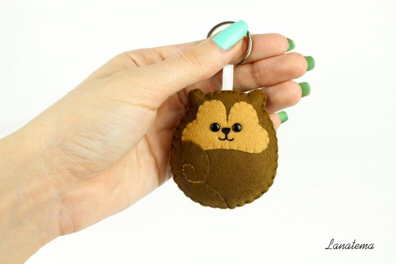 Squirrel Keychain Kawaii Animal Charm Gift Stuffed