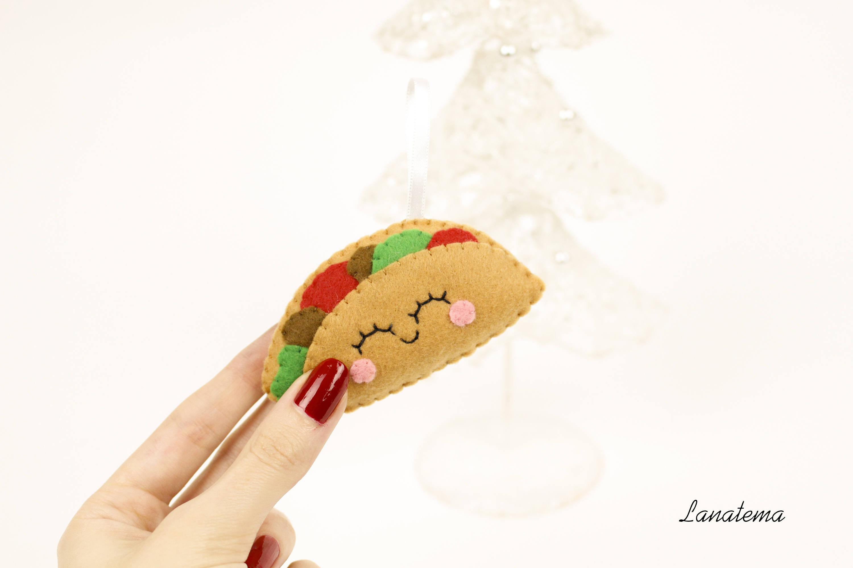 Taco ornament taco bell gift taco lover food christmas | Etsy