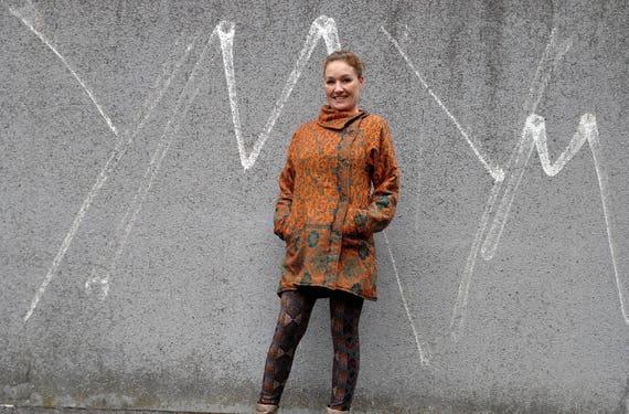 Print Winter Warm L Jacket Ethnic Womens Hippie Fall Wool Print Coral Paisley Bohemian Boho Coat Wool Brique Wool Jacket Paisley Jacket SIZE n1pp6wqxHS