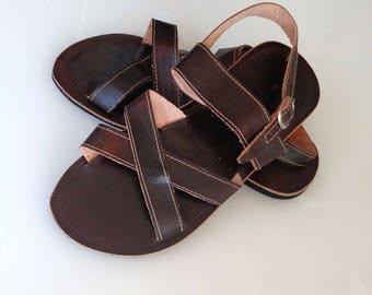 """Leather Sandals Dark Summer Greek Style Sandals Boho Sandals Summer Leather Unissex  Sandals  COISAS   """"PRIMAVERA"""" CSLM015"""