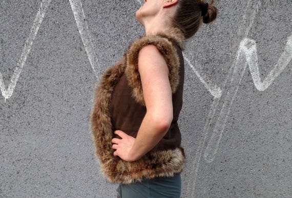 Jacket Leather Boho Leather Handmade Unique Winter Vest Bolero Tribal Short Fur Leather Coat 100 Bolero Leather Fall Ethno Handmade FTq10f