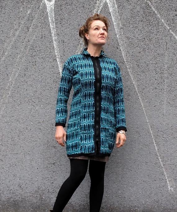 Jacket Coat Jacket Reversible Wool Cotton Quilted Copper Boho Jacket Reversible Zipper Jacket Blue Quilted Bohemian Quilted Bohemian Jacket 7xTSwpqHE