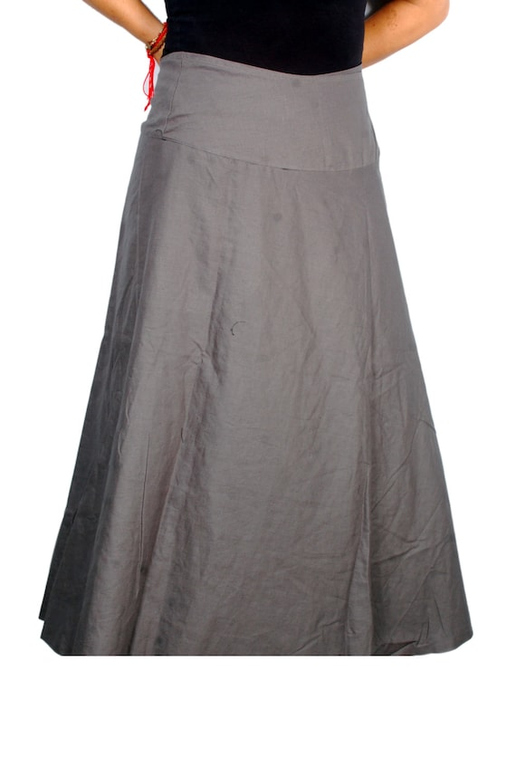 Skirt Green Long Cotton Wrap Reversible Gray Maxi Skirt Wrap Cotton Maxi and Skirt Long Skirt Gypsy Boho 2 Reversible Skirt Color Wrap IwFUxqHREw