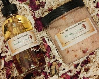 Self Love Bath Set - Bath Oil- Bath Soak - Bath Set - Spa Kits - Spa Gifts - Bath Spa Kit - Spa- Natural Skincare - Bath Kit - Spa Set
