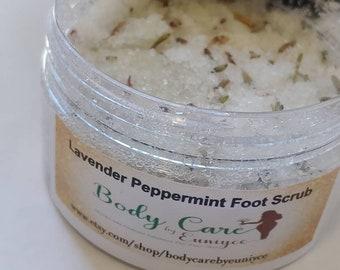 Foot Scrub Lavender Peppermint -Organic Foot Scrub - Epsom Salt - Foot Soak- Foot Scrub - Pedicure - Foot Care