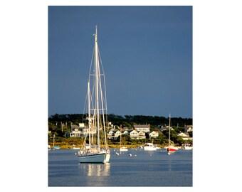 Nautical Wall Art - Sailing Art / Sailing Gift / Sailing Print - Nantucket Harbor - Boating Gifts / Sail Boat Art / Sail Boat Decor
