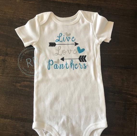 Carolina Panther Baby Girl Onesie Toddler Infant Panthers  69bc38ca2