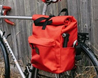 Pannier backpack roll top waterproof cycling bag