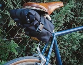 Bike Saddle bag, roll top cycling bag
