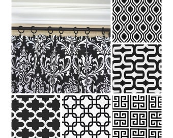 Black And White Window CurtainsWhite Curtain PanelsBlack Damask DrapesBlack Greek Key CurtainsKitchen Curtains