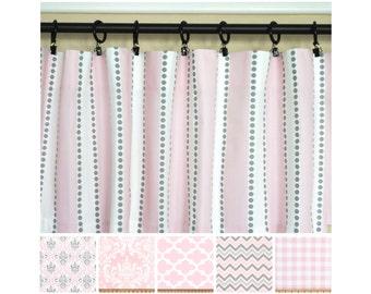Pink Grey CurtainsLight Window CurtainsKitchen CurtainsGray Curtain PanelsPink DrapesDamask CurtainsNursery Curtains