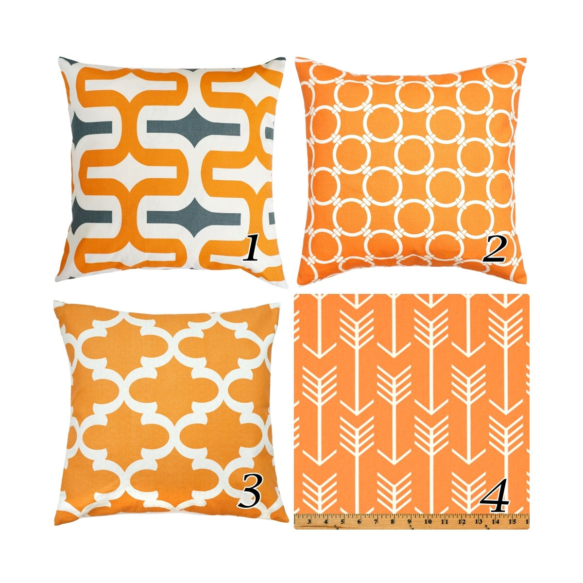 orange pillow cover orange grey pillows decorative etsy. Black Bedroom Furniture Sets. Home Design Ideas