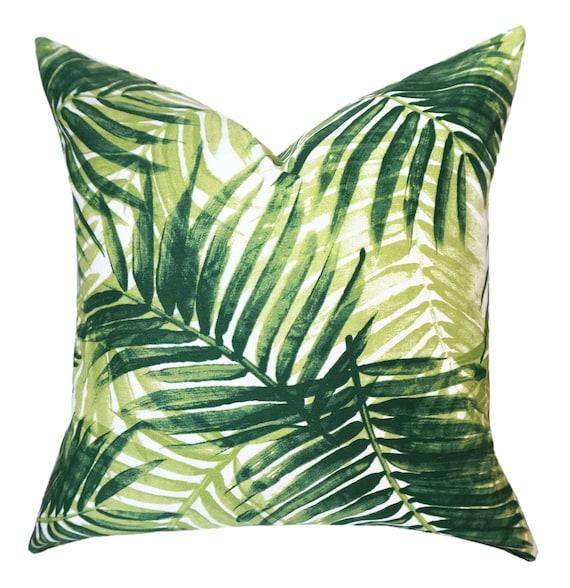 Tommy Bahama Outdoor Pillow Cover.Palm Pillow.Green Throw Pillows.Outdoor  Lumbar.Palm Leaf Pillows.Tropical Cushions.Toss Pillow