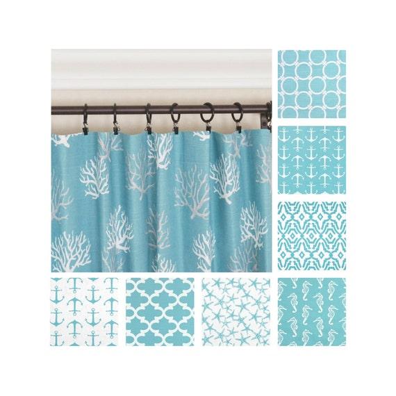 Ordinaire Blue Window Curtains.Nautical Curtains.Kitchen