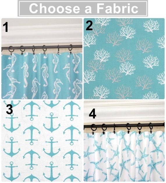 Aqua Curtains.Anchors Window Curtains.Aqua Kitchen Curtains.Aqua Blue  Drapes.Nautical Curtains.Anchors Drapes.Beach House Decor