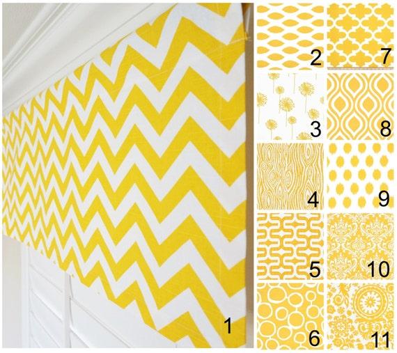 Yellow Window Valance.Yellow White Valance Curtains.Yellow Kitchen  Valances.Moroccan Valance.Yellow Curtains.52\