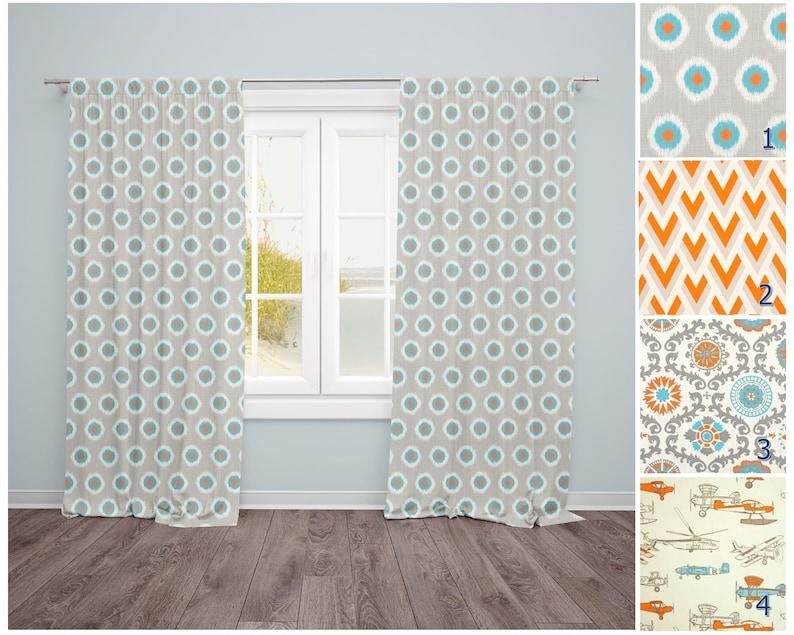 Gray Window Curtains Aqua Drapes Orange Curtain Bathroom Curtains Kitchen Curtains Kids Room Curtain Panels Nursery Curtains Cafe Curtains