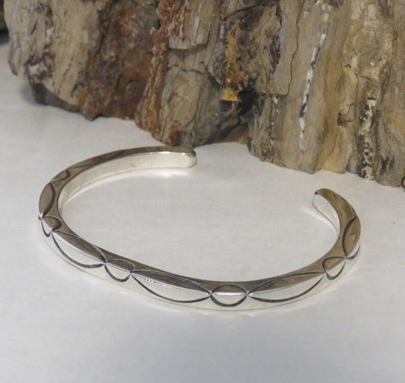 Sterling silver cuff bracelet, square, marked 925, signed RD, men's or  women's, vintage, 26 grams