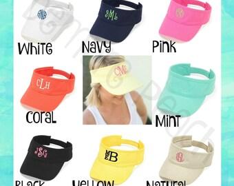 Monogrammed Visor, Monogram Hat, Personalized visor, Personalized hat, Women's visor, Summer Hat, Monogram Hat, Twill Hat, Adjustable visor