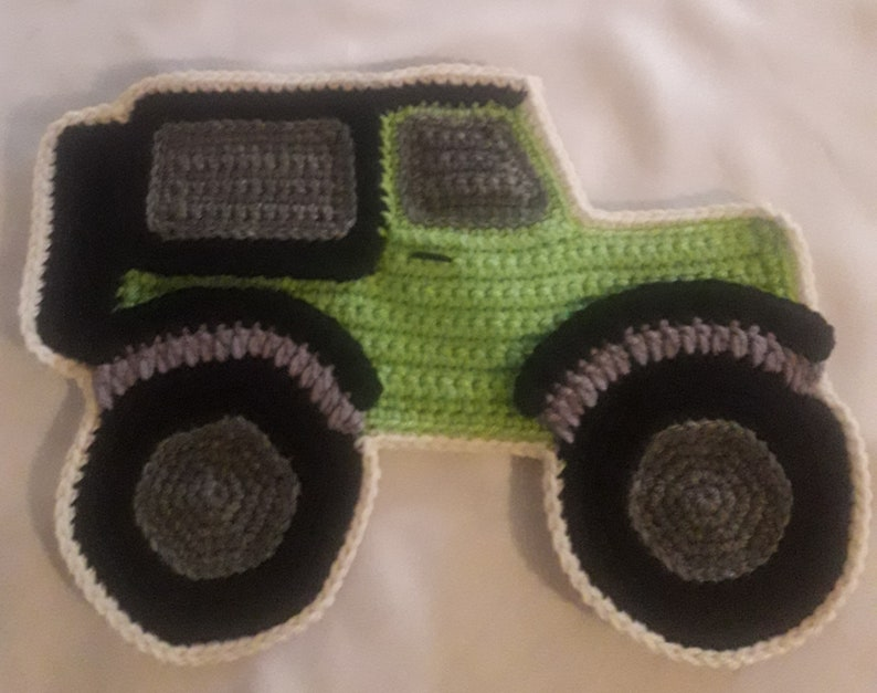 Crochet pattern only large jeep applique for blankets etsy