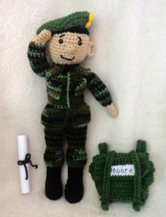 CROCHET PATTERN Only Army Amis Boy & Girl Military | Etsy