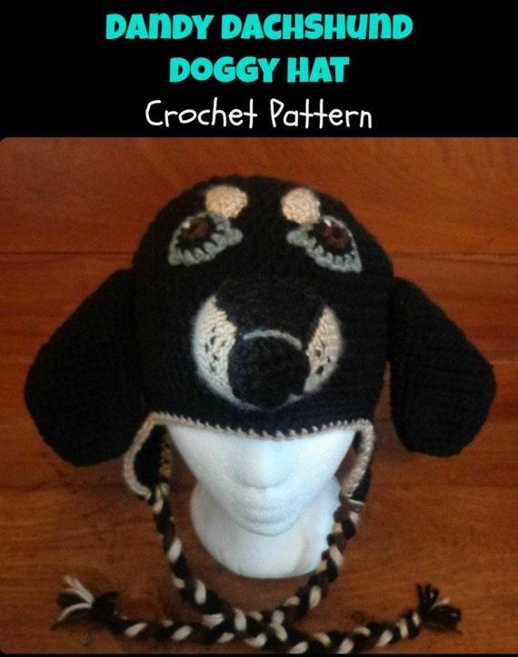 Dogpuppy Dachshund Crocheted Hat Weaner Dog Crochet Hat Pattern