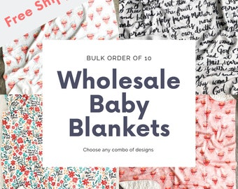 Wholesale Baby Blankets, Bulk Order of 10