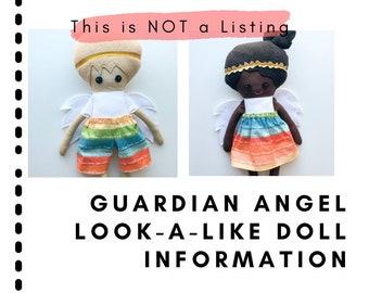 Information: Guardian Angel Look-A-Like doll, dress up doll